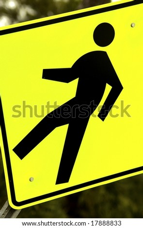 Pedestrian Sign - stock photo