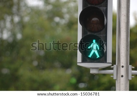 Pedestrian Signal - stock photo