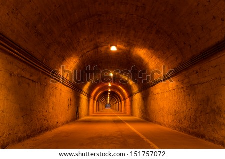 Pedestrian tunnel in Madrid near to Fuencarral neighborhood - stock photo