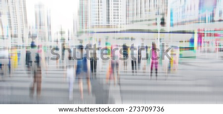 Pedestrians at the zebra crossing  - stock photo