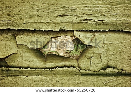 Peeled structure in the horizontal composition - stock photo