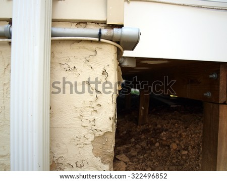 peeling exterior paint of a home - stock photo