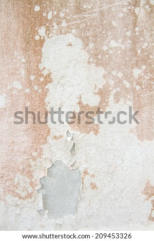 Peeling paint on cement wall texture