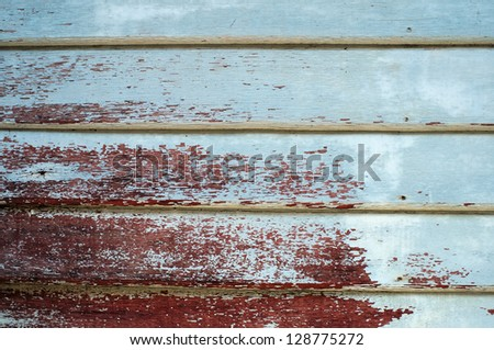 peeling painted wooden wall. - stock photo