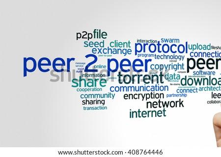 Peer 2 peer concept word cloud background  - stock photo