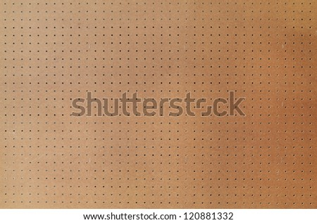 Peg board with large area, shot square to image dimension. - stock photo