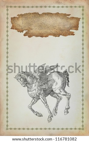 Pegasus horse illustration