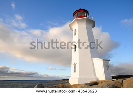 Peggy's Cove Lighthouse - stock photo