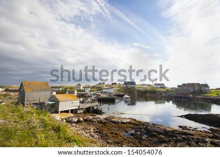 Peggys Cove Nova Scotia - stock photo