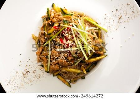 Pekin salad close up - stock photo