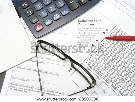 pen and application form for business experience - stock photo