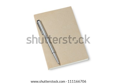 Pen And Book Isolated On White