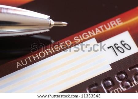 Pen and credit card - ready for signature