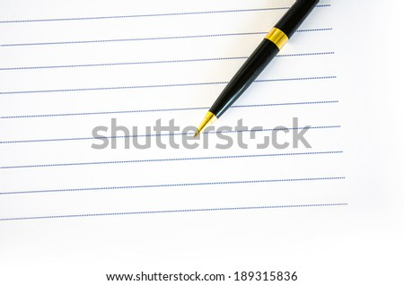 Pen and paper tool of business