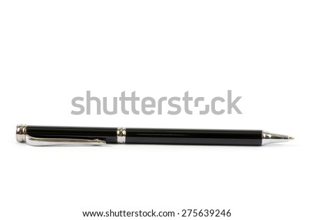pen isolated on a white background - stock photo
