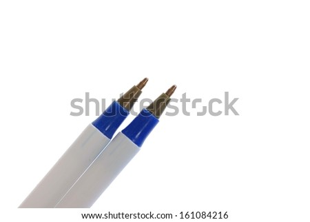 pen isolated on white background - stock photo