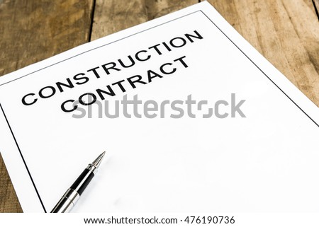 Construction Contract Stock Images, Royalty-Free Images & Vectors