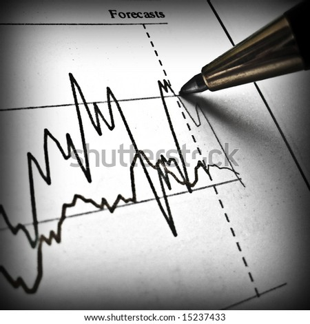 Pen showing diagram on financial report 25 - stock photo