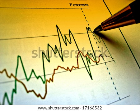 Pen showing diagram on financial report 28 - stock photo