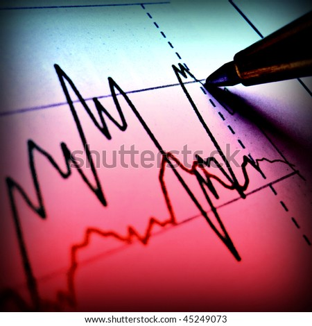 Pen showing diagram on financial report 37 - stock photo