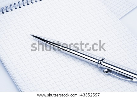 Pen with notebook. - stock photo