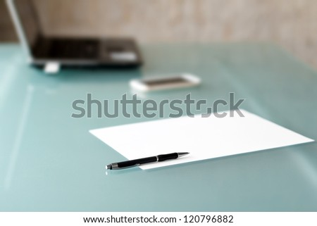 Pen with paper nobody - stock photo