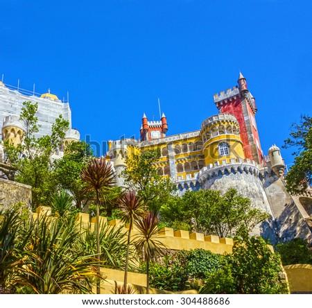 Pena National Palace. Palacio Nacional da Pena, Sintra, Portugal. - stock photo