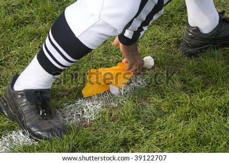 Penalty flag - stock photo