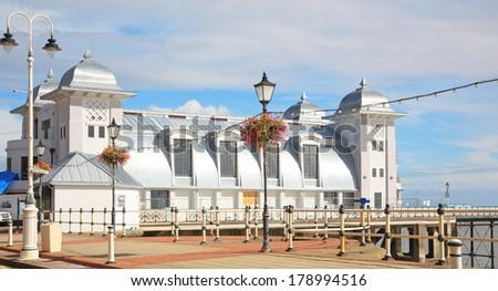 Penarth pier - stock photo