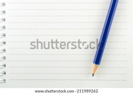 pencil book background - stock photo