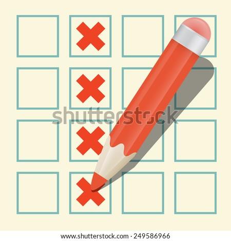 Pencil Check Option - stock photo
