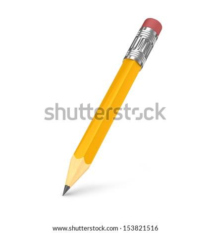 pencil 3d illustration  - stock photo