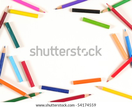Pencil frame. - stock photo