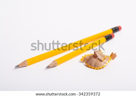 pencil isolated on white background  - stock photo