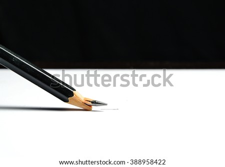 pencil lead crack on white paper