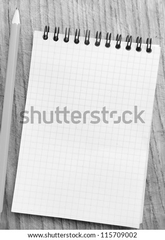 Pencil on a Notepad