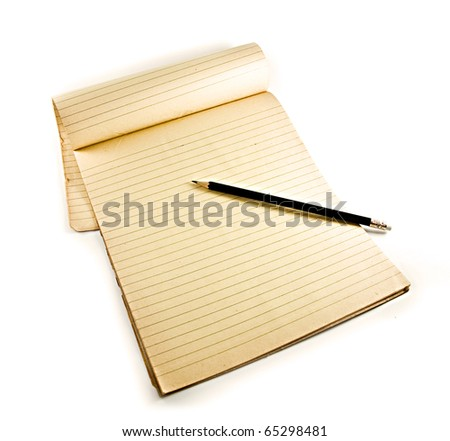 pencil on notebook - stock photo