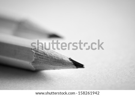 Pencil on paper - stock photo