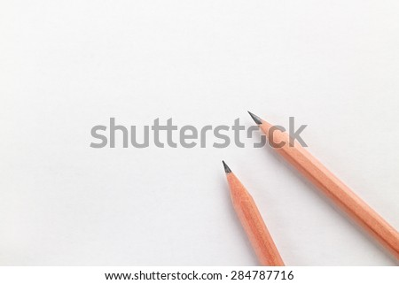 pencil on white background