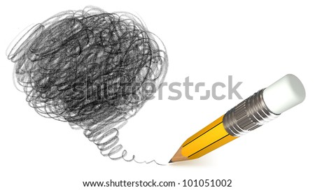 Pencil shading. Hand-drawn. Doodle - stock photo