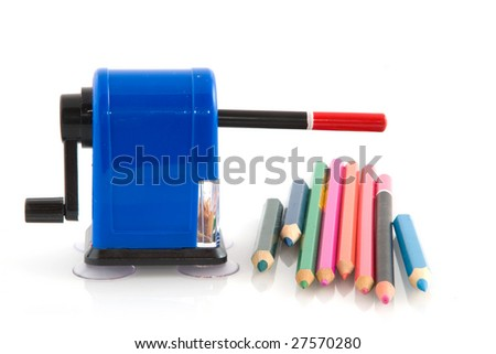Pencil sharpener with colorful pencils