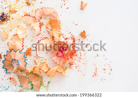 Pencil Shavings - stock photo