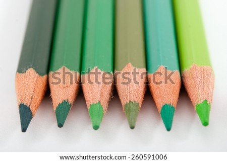 pencil shot on white background - stock photo