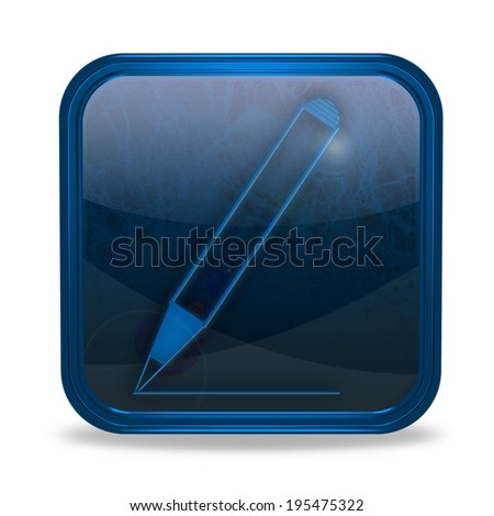 Pencil square icon on white background