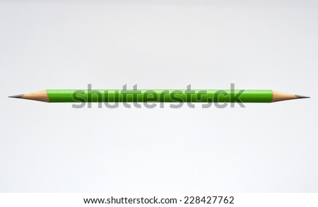 Pencil that is Sharpened on Both Sides isolated on White Background with Text Space