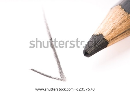 pencil writing on white paper - stock photo