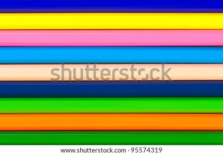 Pencils bright abstract striped background.