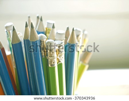 pencils (selective focus) - stock photo
