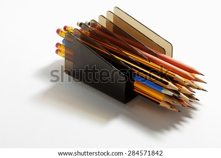 Pencils with Stand - stock photo