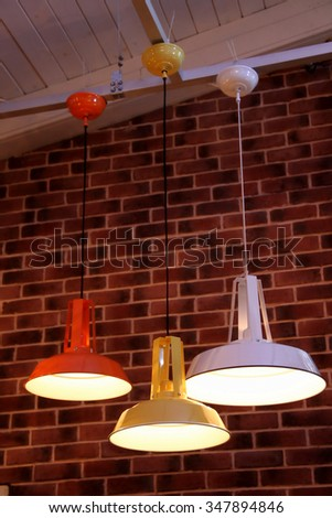 Pendant lamps at the lights store